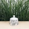 porzellan_und_keramik, wohnen, porzellan-andere, ZUCKERDOSE WALDTIERE - cukiernica zwierzeta lesne forrest 4 100x100
