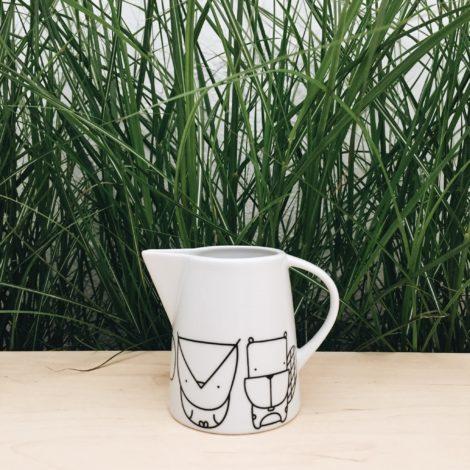 porzellan_und_keramik, wohnen, kannen, porzellan-andere, MILCHKÄNNCHEN WALDTIERE - mlecznik zwierzeta lesne forrest 1 470x470