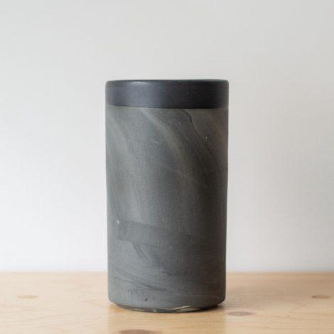 vasen, porzellan_und_keramik, wohnen, VASE MARBLED BLACK - QY1C7467 470x470