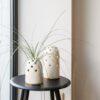 vasen, porzellan_und_keramik, wohnen, GROßE VASE FLY'S EYE | WEIß MIT GOLDENEM RAND - 06 100x100