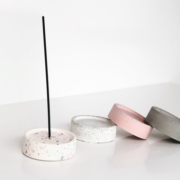 interior-design, incense-stick-holders, home-accessories, INCENSE STICK HOLDER TERRAZZO - incense holder mix 03 350x350