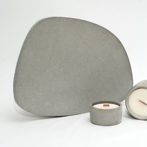 home-accessories, interior-design, holders-and-trays, ASYMMETRICAL TRAY LIGHT GREY - light grey tray 04 470x470