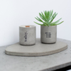 home-accessories, interior-design, holders-and-trays, ASYMMETRICAL TRAY LIGHT GREY - light grey tray candles 100x100