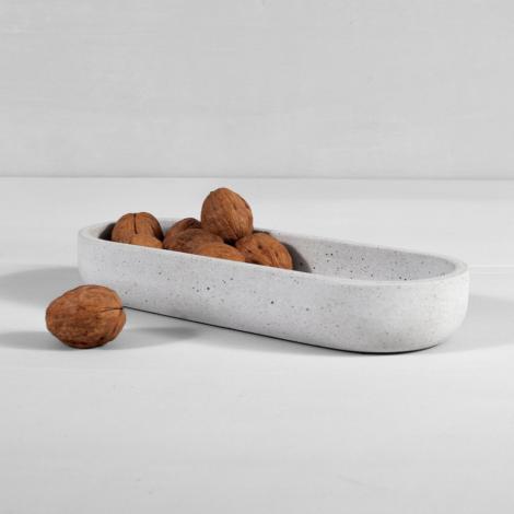 home-accessories, interior-design, holders-and-trays, OBLONG CONCRETE TRAY STRACCIATELLA - straciatella long tray 01 470x470