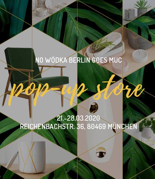 NO WÓDKA Pop-Up Store in München