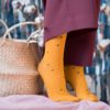 bekleidung-en, organic-socks, clothes-accessories, ORGANIC COTTON SOCKS MUSTARD YELLOW WITH DOTS - DSCF7075 100x100