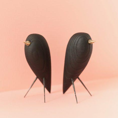 home-accessories, wooden-objects, interior-design, BLACKBIRD - CHARRED ASH FIGURINE - blackbird 1 470x470