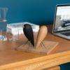 wohnaccessoires, wohnen, objekte-aus-holz, VOGEL - FIGUR AUS EICHENHOLZ - blackbird 5 100x100