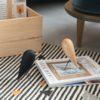 wohnaccessoires, wohnen, objekte-aus-holz, VOGEL - FIGUR AUS EICHENHOLZ - blackbird 6 100x100
