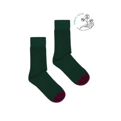 bekleidung-en, organic-socks, clothes-accessories, ORGANIC COTTON SOCKS BOTTLE GREEN - bottle green organic 470x470