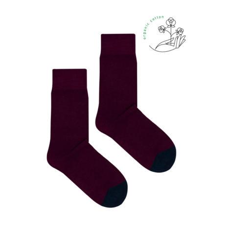 bekleidung, socken-aus-bio-baumwolle, accessoires-bekleidung, SOCKEN AUS BIOBAUMWOLLE BURGUNDERROT - burgundy organic 470x470