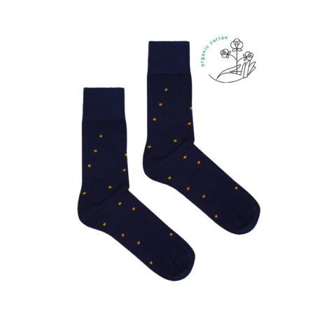 bekleidung, socken-aus-bio-baumwolle, accessoires-bekleidung, SOCKEN AUS BIOBAUMWOLLE DUNKELBLAU GEPUNKTET - navy blue dots organic 470x470