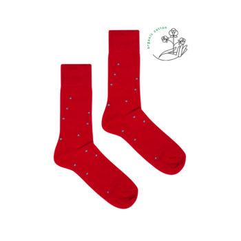 bekleidung, socken-aus-bio-baumwolle, accessoires-bekleidung, SOCKEN AUS BIOBAUMWOLLE KARO - red dots organic 350x350