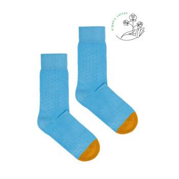 socken-aus-bio-baumwolle, bekleidung, accessoires-bekleidung, SOCKEN AUS BIOBAUMWOLLE HELLBLAU - sky blue organic  350x350