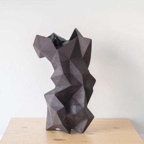 vasen, VASE GEOMETRIC SCHWARZ - QY1C8673 2 470x470