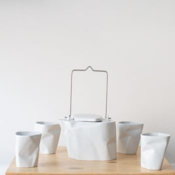 sets-en, porcelain_and_ceramics, interior-design, BENT TEA SET | WHITE - QY1C8710 2 350x350