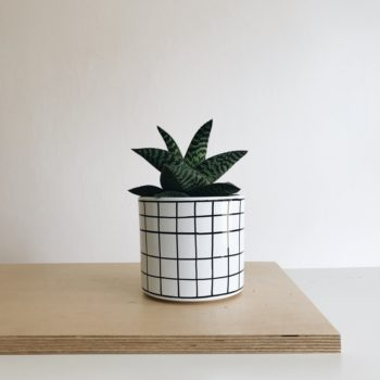 interior-design, home-accessories, flower-pots, FLOWER POT CHECKED 13CM - kratka13 350x350