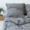 wohntextilien, wohnen, bettwaesche, BETTWÄSCHE PURE DARK GREY - HOP Design Pure Cotton Bedding Dark Gray 100x100