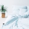 home-fabrics, interior-design, bed-linen, BED LINEN PURE PASTEL BLUE - Poszwa na kołdrę PURE pastelowy błękit2 100x100