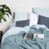 home-fabrics, interior-design, bed-linen, BED LINEN PURE PASTEL BLUE - Poszwa na kołdrę PURE pastelowy błękit21 100x100