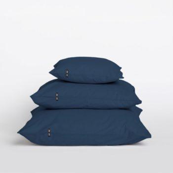 pillows, interior-design, home-fabrics, PILLOW CASE PURE OBSIDIAN BLUE - Przescieradlo z czystej bawelny przygaszony granat 16410 1200 350x350