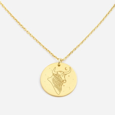 jewellery, pendants, NECKLACE MY ZODIAC TAURUS PLATED WITH GOLD - anker byk zl zbl 470x470