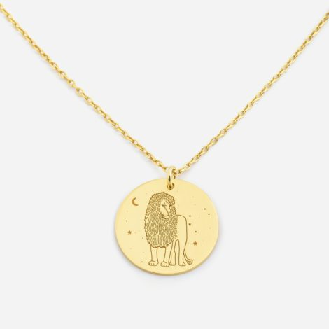 jewellery, pendants, NECKLACE MY ZODIAC LEO PLATED WITH GOLD - anker lew zl zbl 470x470