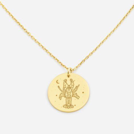 jewellery, pendants, NECKLACE MY ZODIAC CANCER PLATED WITH GOLD - anker rak zl zbl 470x470
