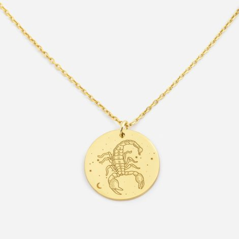 jewellery, pendants, NECKLACE MY ZODIAC SCORPIO PLATED WITH GOLD - anker skorp zl zbl 470x470