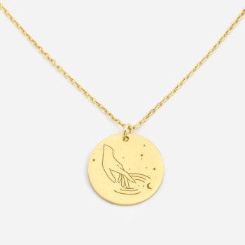 jewellery, pendants, NECKLACE MY ZODIAC SCORPIO PLATED WITH GOLD - anker wodn zl zbl 350x350