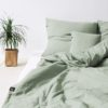 home-fabrics, interior-design, bed-linen, BED LINEN PURE SAGE GREEN - sage green 1 100x100