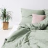home-fabrics, interior-design, bed-linen, BED LINEN PURE SAGE GREEN - sage green 2 100x100