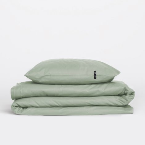 home-fabrics, interior-design, bed-linen, BED LINEN PURE SAGE GREEN - sage green 4 470x470