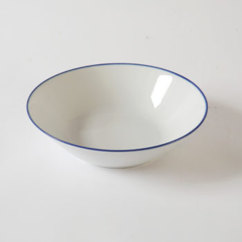 porcelain_and_ceramics, plates, interior-design, LARGE SALAD BOWL 26CM BLUE LINE - BL salater 26 350x350