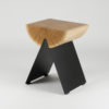 tables, stools, furniture, wedding-gifts, interior-design, 1/2 SIDE TABLE - black natural high 100x100