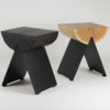 tables, stools, furniture, wedding-gifts, interior-design, 1/2 SIDE TABLE - side table black and natural hi res 100x100
