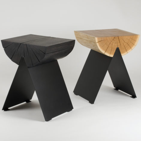 tables, stools, furniture, wedding-gifts, interior-design, 1/2 SIDE TABLE - side table black and natural hi res 470x470
