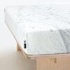 wohntextilien, wohnen, spannbettlacken, hochzeitsgeschenke, HAYKA SCHNEE SPANNBETTLAKEN - BEDSHEET SNOW 150 100x100