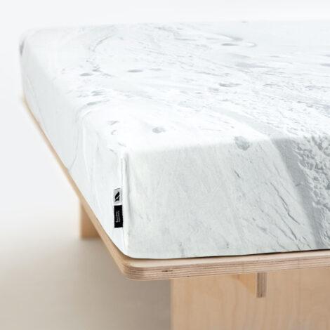 home-fabrics, wedding-gifts, interior-design, spannbettlacken-en, HAYKA SNOW FITTED SHEET - BEDSHEET SNOW 150 470x470