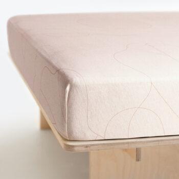 wedding-gifts, interior-design, home-fabrics, spannbettlacken-en, AM I? FITTED SHEET - FITTED SHEET AM I bed 150 350x350