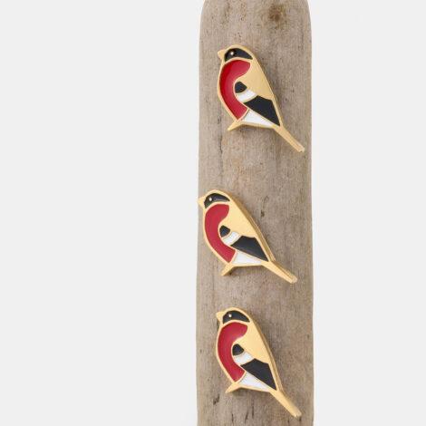 jewellery, pins-en, PIN BULLFINCH - 1 470x470