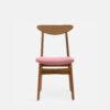stuhle, mobel, wohnen, STUHL 200-190 MIX VELVET - 366 Concept 200 190 Chair Mix W03 Velvet Powder Pink front 100x100