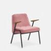 sessel, mobel, wohnen, greenery, SESSEL 366 METAL VELVET - 366 Concept 366 Metal Armchair BM W03 Velvet Powder Pink 100x100
