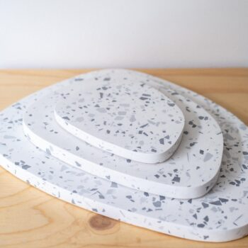 interior-design, home-accessories, holders-and-trays, ASYMMETRICAL TRAY GREY TERRAZZO M - QY1C9595 350x350