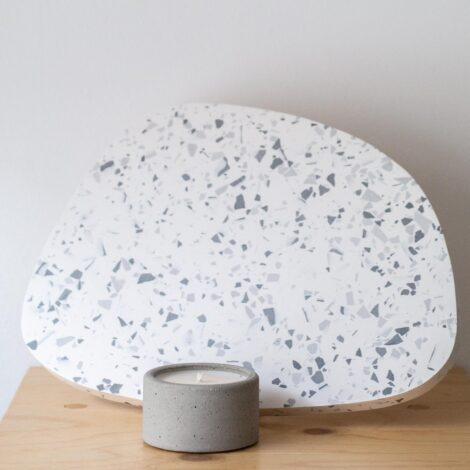 home-accessories, interior-design, holders-and-trays, ASYMMETRICAL TRAY GREY TERRAZZO L - QY1C9598 470x470