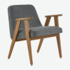 armchairs, furniture, interior-design, 366 ARMCHAIR COCO - 366 Concept 366 Armachair W02 Coco Graphite 100x100