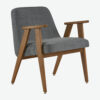 armchairs, furniture, interior-design, 366 ARMCHAIR COCO - 366 Concept 366 Armachair W03 Coco Graphite 100x100