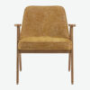 sessel, mobel, wohnen, SESSEL 366 MARBLE - 366 Concept 366 Armchair W02 Marble Mustard front 100x100