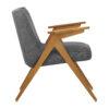 sessel, mobel, wohnen, schaukelstuehle, greenery, SESSEL 366 BUNNY LOFT - 366 Concept Bunny Armchair W03 Loft Grey side 100x100