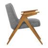 sessel, mobel, wohnen, schaukelstuehle, greenery, SESSEL 366 BUNNY LOFT - 366 Concept Bunny Armchair W03 Loft Silver side 100x100